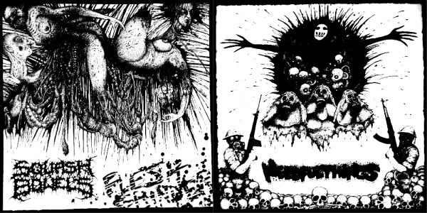 Squash Bowels & Needful Things - Flesh Grinder / Harsh Extreme (Split)