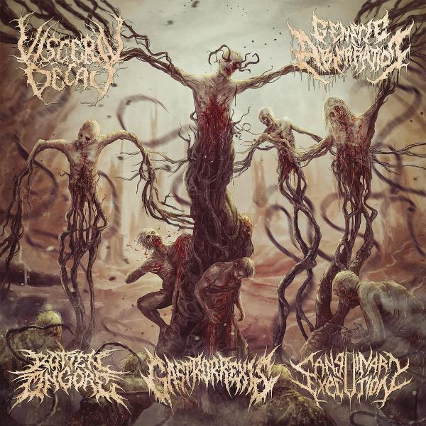 Rotten On Gore & Visceral Decay & Sanguinary Execution & Gastrorrexis & Genetic Aberration - Sutured Bleeding Wounds (Split)